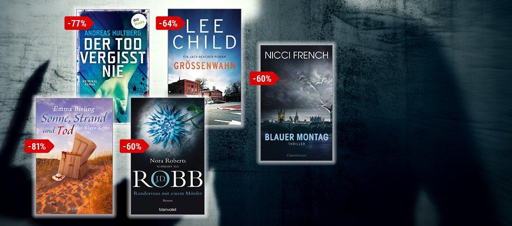 J.D. Robb, Nicci French, Lee Child u.v.m. - nur im Juli mindestens 50% reduziert!