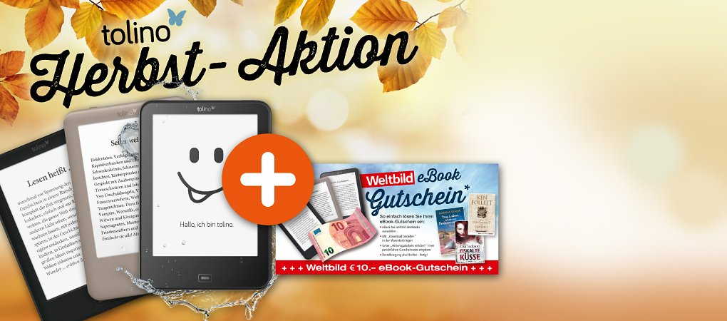 tolino Herbst-Aktion: GRATIS 10.- € eBook-Gutschein zu den tolino eReadern