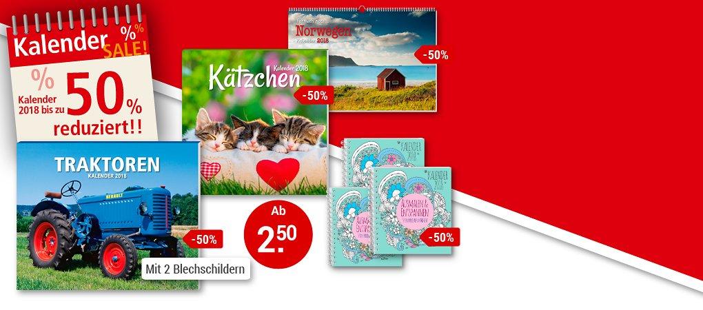 Kalender-SALE: Sparen Sie bis zu 50% - nur solange Vorrat reicht!