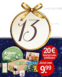 Nur heute im Online-Adventskalender: Kräuter Power Box um nur 9,99 € statt 29,99 €