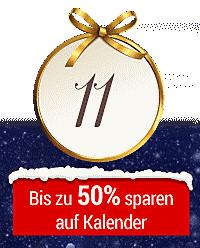 Nur heute im Online-Adventskalender: Kalender bis zu 50% reduziert!