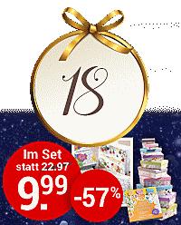 Nur heute im Online-Adventskalender: Kreativ-Set für nur 9.99 €!
