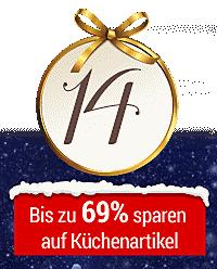 Nur heute im Online-Adventskalender: Küchenhelfer bis zu 69% reduziert!