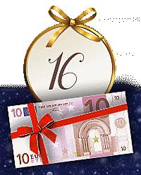 Nur bis 17.12.: 10.- € Gutschein als Weihnachtsbonus für Sie!