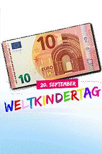 Sichern Sie sich heute zum Weltkindertag Ihren 10.- € Gutschein!