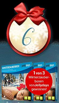 Nur heute: 1 von 3 Winterzauberboxen von Jollydays gewinnen!