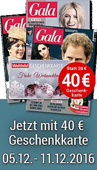 Nur für kurze Zeit: 40.- € Weltbild-Geschenkkarte gratis!