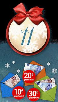 Nur heute: Bis zu 30 € Weihnachtsgeld!
