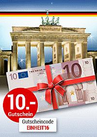 Zum Tag der Deutschen Einheit: 10.- € Gutschein für Sie!