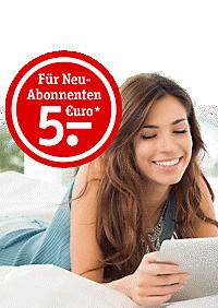 Newsletter abonnieren, 5.- Gutschein* kassieren!