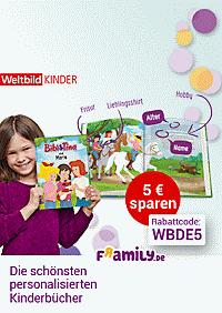 Jetzt 5.- € sparen mit Rabattcode WBDE5: