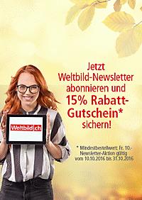 Newsletter abbonieren und 15% Rabatt-Gutschein* sichern!