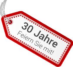 30 Jahre: Wir feiern Jubiläum