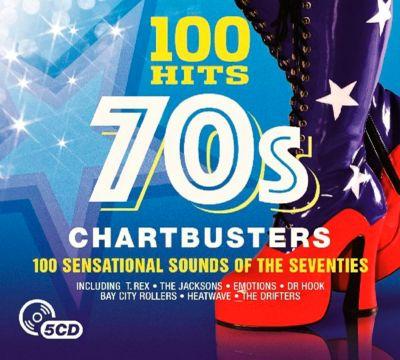 100 Hits-70'S Chartbusters, 5 CDs, Diverse Interpreten