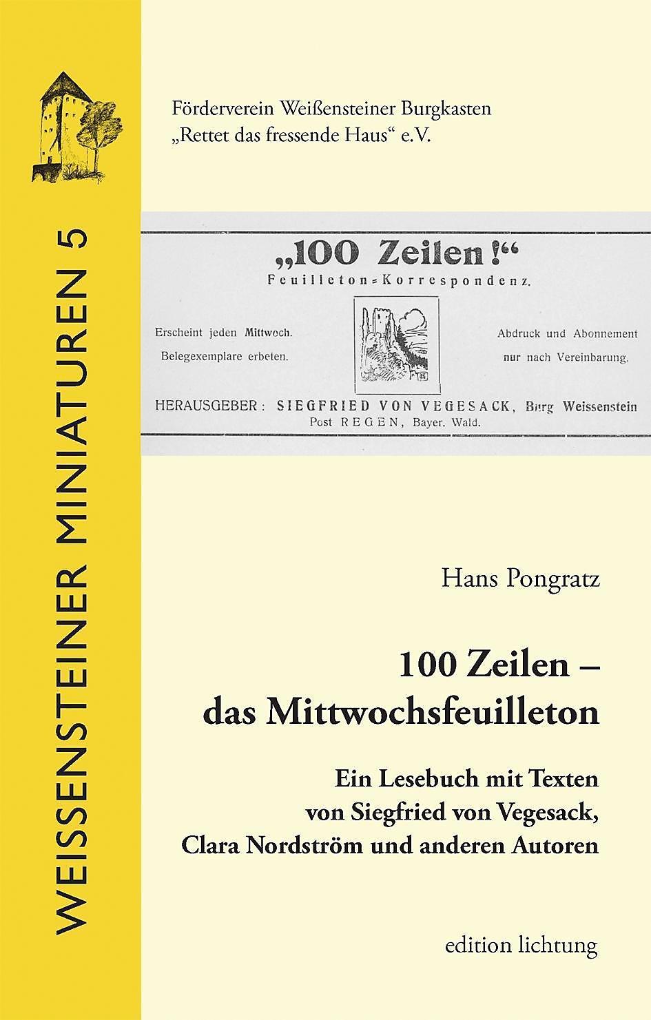 100 Zeilen Das Mittwochsfeuilleton Buch Versandkostenfrei