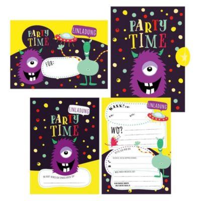 12 Monster Einladungskarten zum Geburtstag oder Party für Jungen und Mädchen inkl. Umschläge - Lisa Wirth |
