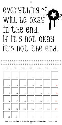 12 Motivational Phrases (Wall Calendar 2019 300 × 300 mm Square) - Produktdetailbild 12
