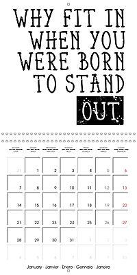 12 Motivational Phrases (Wall Calendar 2019 300 × 300 mm Square) - Produktdetailbild 1