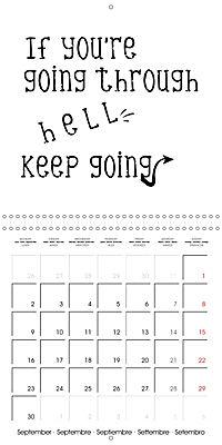 12 Motivational Phrases (Wall Calendar 2019 300 × 300 mm Square) - Produktdetailbild 9