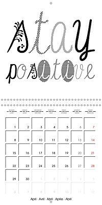12 Motivational Phrases (Wall Calendar 2019 300 × 300 mm Square) - Produktdetailbild 4