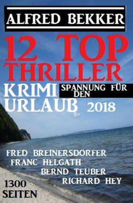 12 Top Thriller: Krimi Spannung für den Urlaub 2018, Alfred Bekker, Fred Breinersdorfer, Richard Hey, Bernd Teuber, Franc Helgath