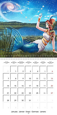 12 Zodiac Ladies (Wall Calendar 2019 300 × 300 mm Square) - Produktdetailbild 1