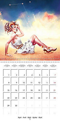 12 Zodiac Ladies (Wall Calendar 2019 300 × 300 mm Square) - Produktdetailbild 4