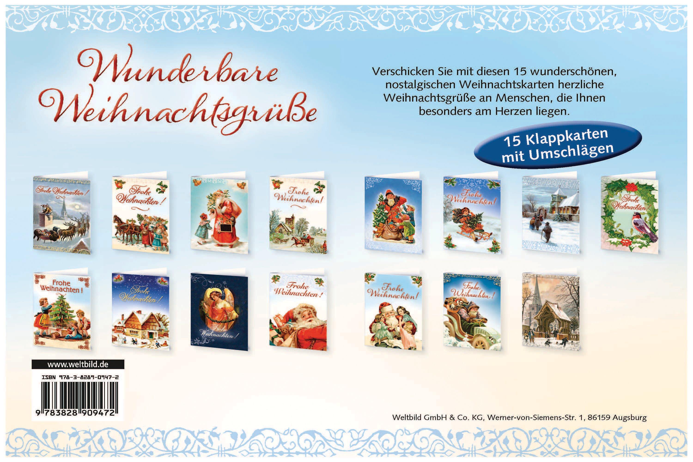 Nostalgische Weihnachtskarten Kaufen.15 Weihnachtskarten Mit Kuvert Im Set Weltbild Ausgabe