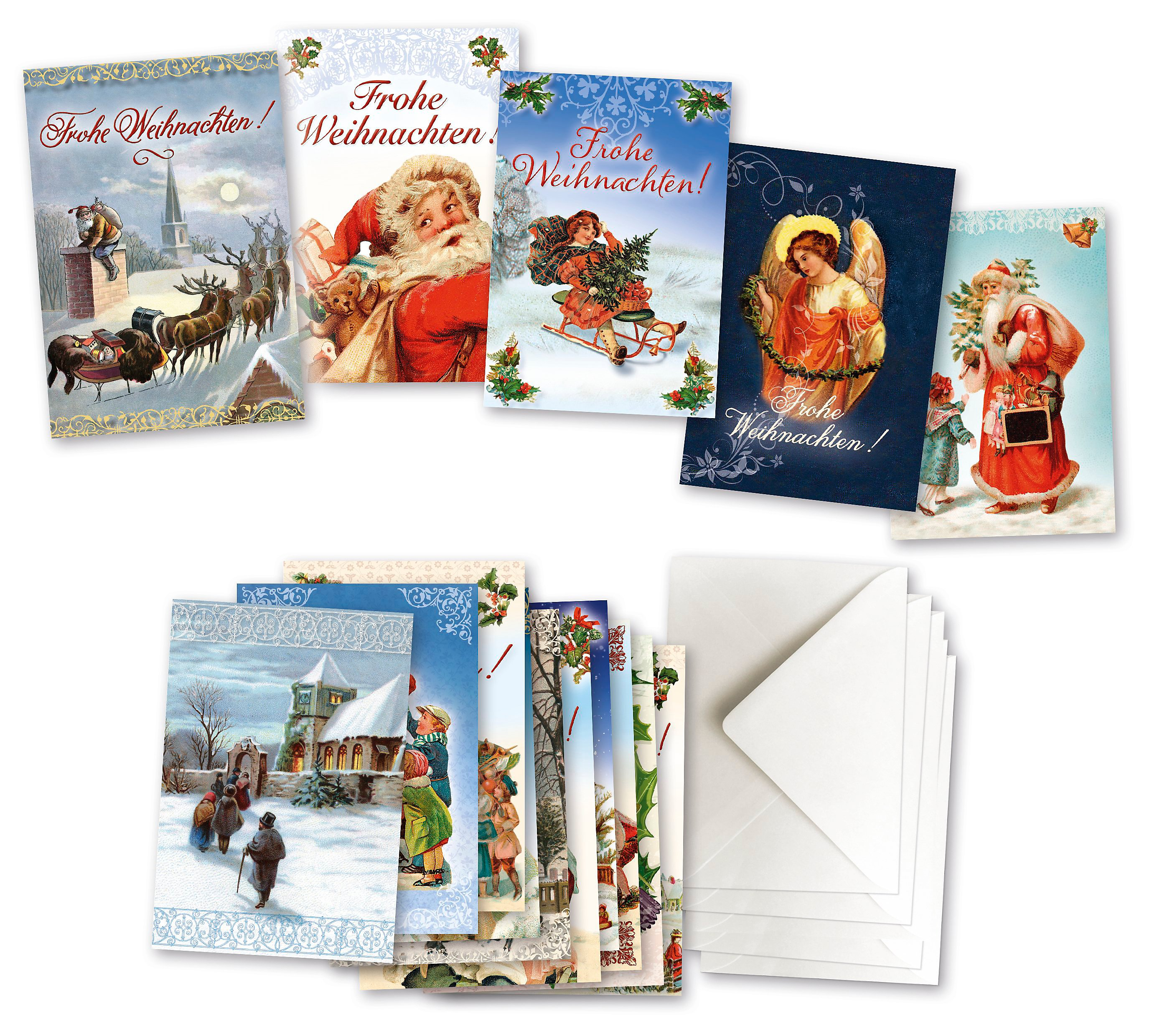 Weihnachtskarten Deutschland.15 Weihnachtskarten Mit Kuvert Im Set Weltbild Ausgabe