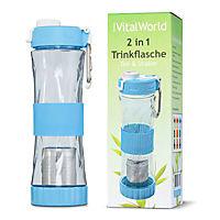 2 in 1 Trinkflasche blau, 500ml von VitalWorld - Produktdetailbild 1