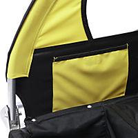 2 in1 Kinderfahrradanhänger (Farbe: gelb-schwarz) - Produktdetailbild 7