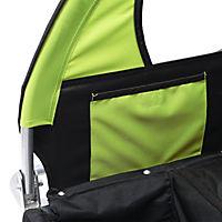 2 in1 Kinderfahrradanhänger (Farbe: grün-schwarz) - Produktdetailbild 2