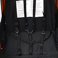 2 in1 Kinderfahrradanhänger (Farbe: orange-schwarz) - Produktdetailbild 1