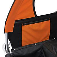 2 in1 Kinderfahrradanhänger (Farbe: orange-schwarz) - Produktdetailbild 2