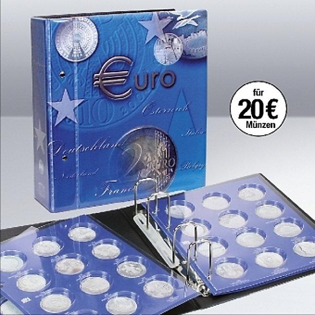 20 Euromünzen Sammelalbum Topset Inkl 2 Einssteckblättern Für 20