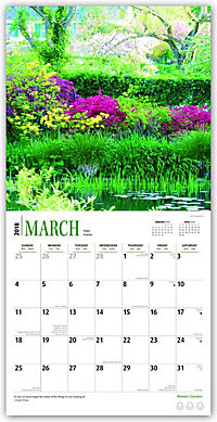 2018 Monet's Garden Wall Calendar - Produktdetailbild 1