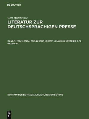 23743-33164. Technische Herstellung und Vertrieb. Der Rezipient, Gert Hagelweide