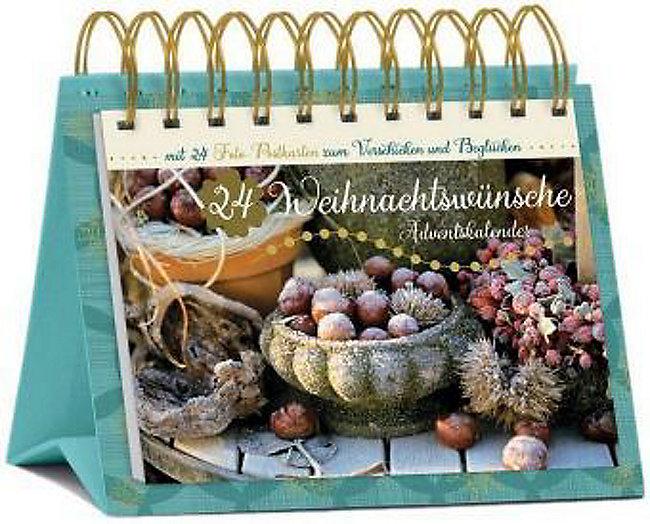 24 Weihnachtswünsche.24 Weihnachtswünsche Tisch Adventskalender Kalender Bestellen