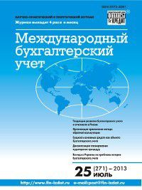 Международный бухгалтерский учет № 25 (271) 2013