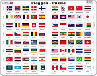 "2er-Set Larsen Puzzles: ""Erde"" & ""Flaggen"" - Produktdetailbild 1"