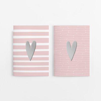 Umschläge DIN A5 Valentinstag Liebe Papier Herz auf Holz // 50 Sets