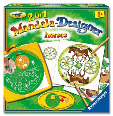 2in1 Mandala Designer Horses