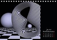 3 Dimensionen - 2 Farben (Tischkalender 2019 DIN A5 quer) - Produktdetailbild 6