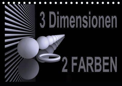 3 Dimensionen - 2 Farben (Tischkalender 2019 DIN A5 quer), IssaBild