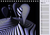 3 Dimensionen - 2 Farben (Tischkalender 2019 DIN A5 quer) - Produktdetailbild 3