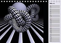 3 Dimensionen - 2 Farben (Tischkalender 2019 DIN A5 quer) - Produktdetailbild 5