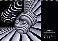 3 Dimensionen - 2 Farben (Wandkalender 2019 DIN A3 quer) - Produktdetailbild 1