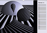3 Dimensionen - 2 Farben (Wandkalender 2019 DIN A3 quer) - Produktdetailbild 2