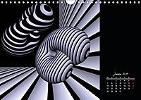 3 Dimensionen - 2 Farben (Wandkalender 2019 DIN A4 quer) - Produktdetailbild 1