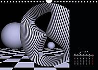 3 Dimensionen - 2 Farben (Wandkalender 2019 DIN A4 quer) - Produktdetailbild 6